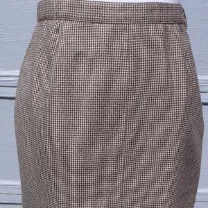 70's VTG Calvin Klein houndsthooth Check SKIRT 6
